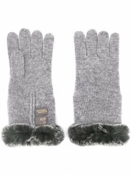 N.peal перчатки с меховой отделкой NPA220