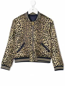 Little Marc Jacobs leopard print reversible bomber jacket W16093P68