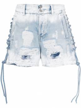 Faith Connexion джинсовые шорты с эффектом потертости X5580D00W02