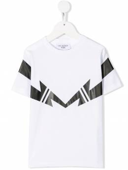 Neil Barrett Kids футболка с логотипом KJT046018629