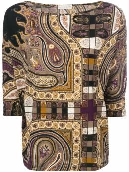 Etro блузка с вырезом-лодочкой 154885265