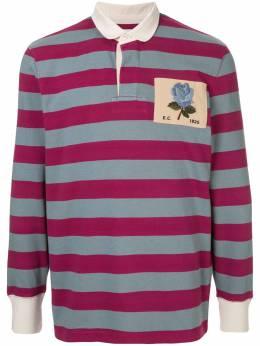Kent & Curwen полосатая рубашка-поло с длинными рукавами K39I7ER080