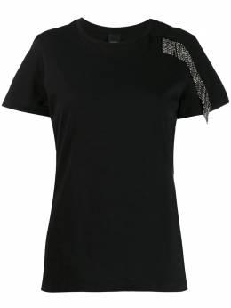 Pinko футболка с бахромой и кристаллами 1G14GG5071RICHIEDERE