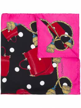 Dolce & Gabbana шарф с принтом сумок FN092RGDK61