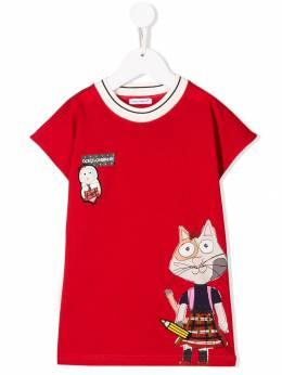 Dolce & Gabbana Kids футболка с принтом DG Animal L5JTDYG7TIL