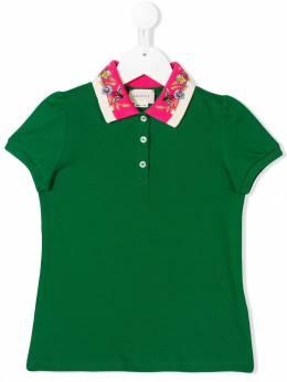 Gucci Kids рубашка-поло с декорированным воротником 526450X9W94