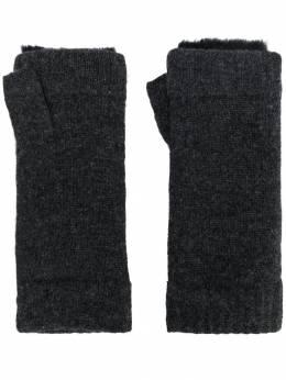 N.peal fur-trim fingerless gloves NPA576F