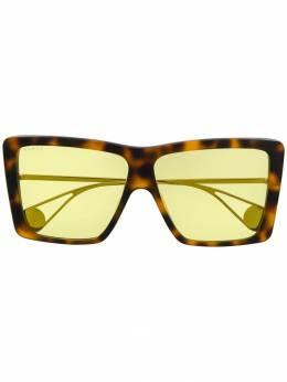 Gucci Eyewear массивные солнцезащитные очки GG0434S