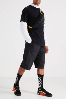 Черные носки с контрастным узором Off-White 2202144128