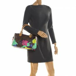 Etro Multicolor Paisley Printed Coated Canvas and Leather Satchel 211432