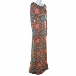 Matthew Williamson Multicolor Block Printed Silk Jersey Dress M 215443