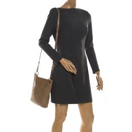 Bottega Veneta Beige Intrecciato Leather Crossbody Bag 213027