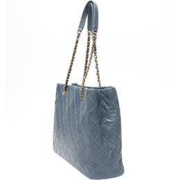 Chanel Blue Quilted Leather Shoulder Bag 212889
