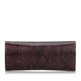 Gucci Bordeaux G Night Python Clutch Bag 210792