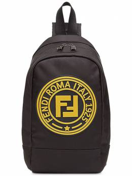 Fendi Kids logo cross-body backpack 8BZ044A4NK