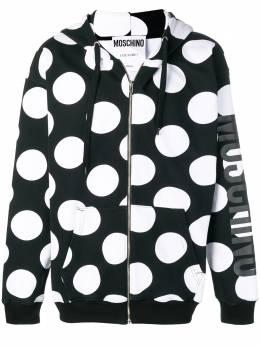 Moschino куртка в горох с капюшоном 17190227J3555