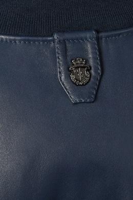 Синий кожаный бомбер Billionaire 1668144686