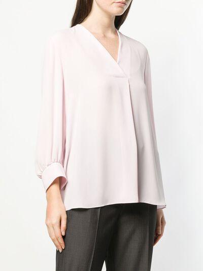 Luisa Cerano - блузка с V-образным вырезом 60909689353890900000 - 3