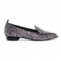 Nicholas Kirkwood Black Glitter Beya Loafers 192301F12102112GB