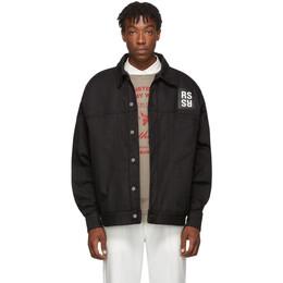 Raf Simons Black Denim Big-Fit Jacket 192287M17700102GB