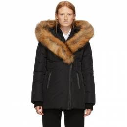 Mackage Black Down and Fur Classic Adali Parka ADALI-R