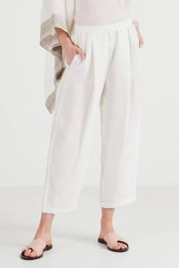 Белые брюки на резинке Agnona 2540135103