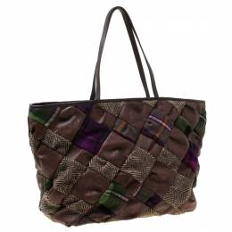 Etro Multicolour Paisley Quilted Coated Canvas and Fabric Tote 212660