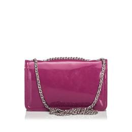 Chanel Pink Patent Leather Lipstick Shoulder Bag 213799