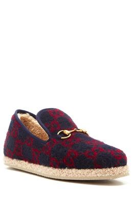 Лоферы с фирменным узором GG на плетеной подошве Gucci 470144906