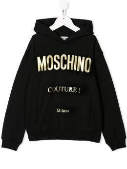 Moschino Kids худи с логотипом HUF038LDA18