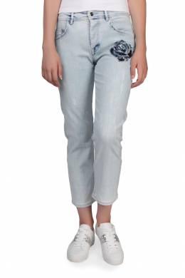 Светло-голубые джинсы с фактурным рисунком Iceberg 1214145396
