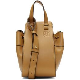 Loewe Brown Mini Hammock Drawstring Bag 192677F04811801GB