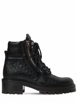Кожаные Ботинки С Логотипом 40mm Balmain 70I82H003-MFBB0