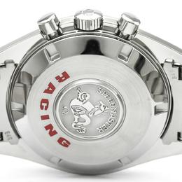 Omega Black Stainless Steel Speedmaster Racing Chronometer Men's Wristwatch 42MM 184383