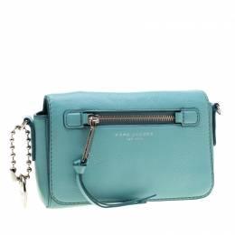 Marc Jacobs Blue Leather Recruit Crossbody Bag 200014