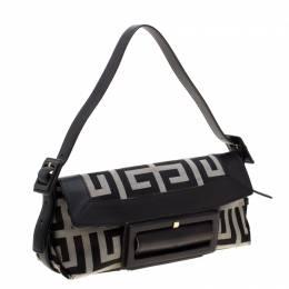 Givenchy Black Canvas and Leather Shoulder Bag 226963