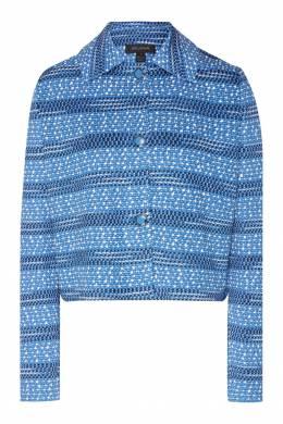 Голубой жакет из вискозы и шерсти St. John 1655145664