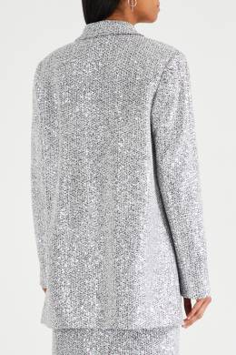 Серебристый пиджак с пайетками St. John 1655145662