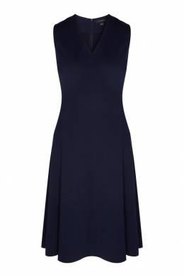 Темно-синее полушерстяное платье St. John 1655145676