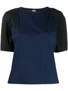 Karl Lagerfeld футболка с контрастными рукавами 96KW1705393