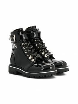 Balmain Kids байкерские ботинки на шнуровке 6L0546LX500