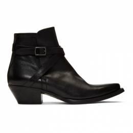 Saint Laurent Black Buckle Lukas Boots 590656 00E00