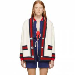 Gucci Off-White Tweed Cardigan 469657 ZID86