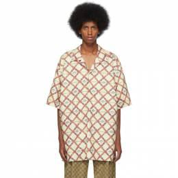 Gucci Off-White Paper Effect Belts Bowling Shirt 192451M19202404GB