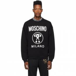 Moschino Black Double Question Mark Sweatshirt 1704 5227