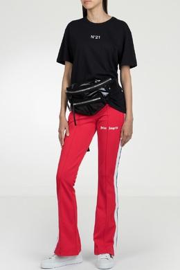 Красные расклешенные брюки-джоггеры Palm Angels 1864146056