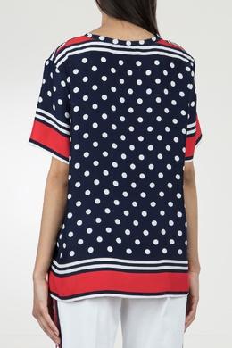 Синяя блузка в горошек P.a.r.o.s.h. 393145975