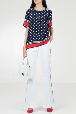 Расклешенные белые брюки с лампасами P.a.r.o.s.h. 393146016