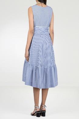 Платье-миди в сине-белую полоску P.a.r.o.s.h. 393145964
