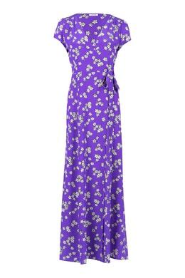 Фиолетовое платье-макси с цветочным узором P.a.r.o.s.h. 393145967